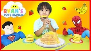 Video Family Fun Game Pancake Pile Up Spiderman Superman Egg Surprise Toys Kids Video Ryan ToysReview MP3, 3GP, MP4, WEBM, AVI, FLV Juni 2017