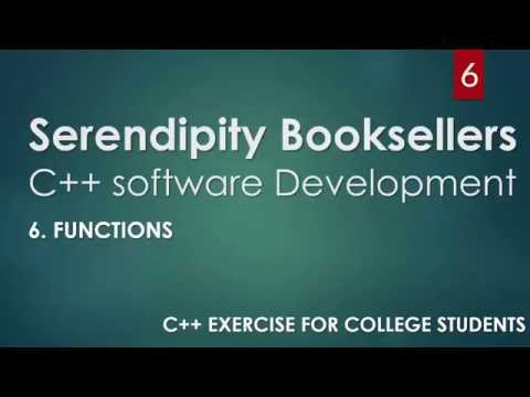 C++ Serendipity Booksellers Software Development Project— Part 6: C++ Functions