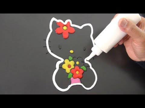 Pancake Hello Kitty Art - Drawing, Coloring And Cooking Video For Kids