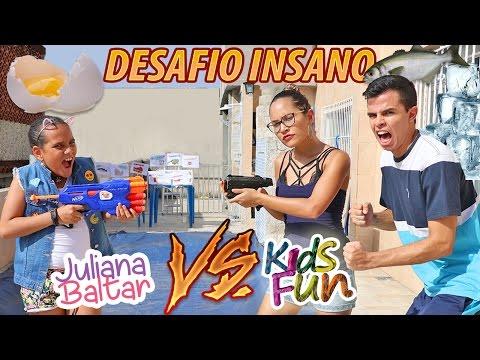 JULIANA BALTAR VS KIDS FUN - DESAFIO INSANO! (видео)