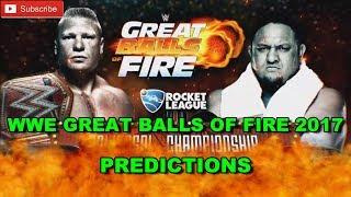 WWE Great Balls Of Fire 2017 Universal Championship Brock Lesnar vs. Samoa Joe Predictions WWE 2K17 SUBSCRIBE! & TURN ON NOTIFICATIONS WWE Great Balls Of Fir...