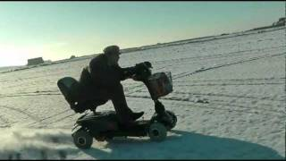 70MPH Mobility Scooter in the SNOW