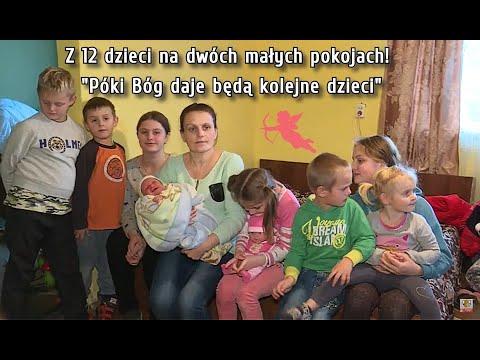 """12 dzieci na dwóch pokojach, 13 już w drodze! """"Póki Bóg daje będą kolejne"""""""