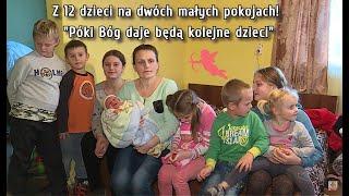"""12 dzieci w dwóch pokojach, 13 w drodze! """"Póki Bóg daje będą kolejne"""""""
