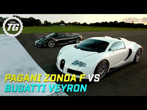 pagani zonda f vs bugatti veyron drag race top gear bbc video. Black Bedroom Furniture Sets. Home Design Ideas