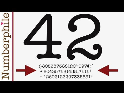 NEWS: The Mystery of 42 is Solved - Numberphile