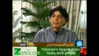 Ch Nisar Double Game - News Night With Talat April 17 2012