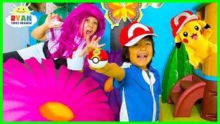 POKEMON GO In Real Life + Ryan vs Team Rocket!!!