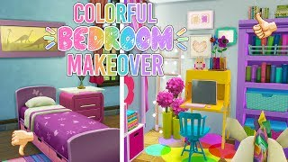Sims 4:Colorful Kawaii |Bedroom Makeover| CC 🌈