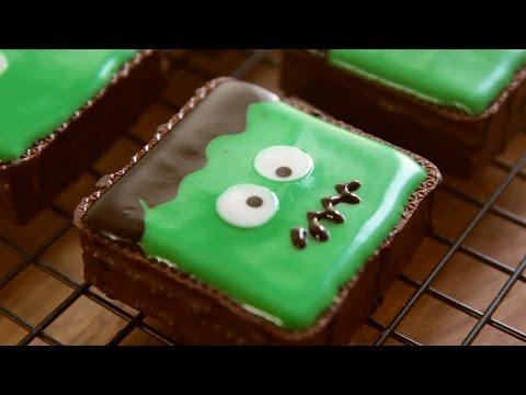 Halloween Snack Ideas, No oven Frankenstein Cake - Honeykki