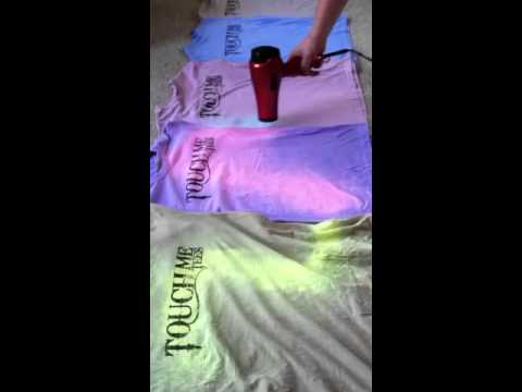 Touch Me Tees from The Color Changing T-Shirt Company