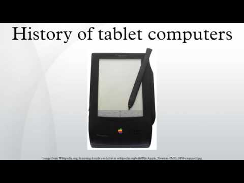 , title : 'History of tablet computers'