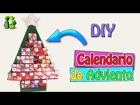 Calendario de adviento reciclado manualidades for Calendario de adviento casero