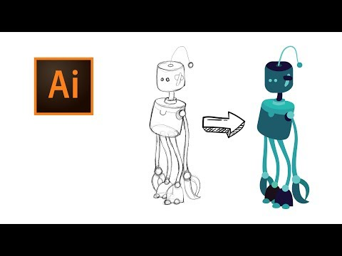 08 - Tracing Scanned Drawings In Adobe Illustrator CC