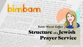 Structure of a Jewish Prayer Service