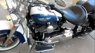 9. 2005 Harley-Davidson Softail Deluxe, shot gun exhaust, leather bags, for sale in Texas