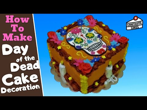 How to Make a SUGAR SKULL DAY OF THE DEAD Cake Decoration Topper by Caketastic Cakes