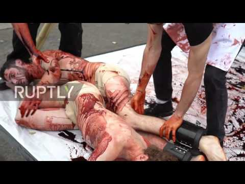 UK: Bloody human slaughterhouse comes to London for World Vegan Day