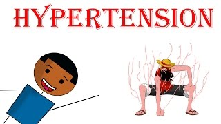 Hypertension - Definition, Causes, Symptoms and Treatment optionsIn this week's video, I will be going over hypertension (high blood pressure), I will be talking about how to define hypertension, how hypertension is diagnosed, the causes of hypertension, the symptoms of hypertension and what are the certain treatment options for hypertension. Hypertension (AKA High blood pressure) is quite literally what it says on the tin, it's having the pressure in your blood vessels be too high. The normal range of blood pressure is 90-119 for systolic and 60-69 for diastolic.Hypertension can be divided into two groups, the majority of people fall into the first category, which is known as primary hypertension, this type doesn't have a cure and is a result of age and lifestyle choices.  Most symptoms of hypertension do not manifest until, the pressure is very high, causing it to be known as the silent killer. When assessing a patient with newly diagnosed hypertension, you need to check that there is no damage to the organs mentioned above, 3 investigations that need to be done are funduscopic to check for any retinopathy, Urine dipstick to check for renal disease, ECG to check for left ventricular hypertrophy and Ischemic heart disease.  HbA1c to check for diabetes as that is an important risk factor for cardiovascular disease and check lipids for similar reasons. The first type of treatment of hypertension is lifestyle changes, such as losing weight, exercising, eating less salt, stopping smoking etc.In terms of the medications the main classes I will speak about are diuretics, ACE inhibitors, Angiotensin 2 receptor antagonists, calcium channel blockers Blood pressure is calculated as flow (that is the volume of fluid in your vessels) times resistance. So higher flow or higher resistance leads to a higher blood pressure, as a result, most blood pressure medications work to lower either flow or resistance and thus lower blood pressure.DIruretics increase salt and water excretion, so lower the fluid volume in the body. ACE inhibitors interfere with the renin-angiotensin, aldosterone system. they stop the formation of angiotensin 2 which is a vasoconstrictor. not only that but without angiotensin 2 there is less aldosterone which normally helps to retain sodium and water, so ACE inhibitors lower resistance and flowAngiotensin 2 receptor blockers, these work in a similar fashion to ACE I but rather than stop the formation of angiotensin 2, they block the receptors for angiotensin 2. Calcium channel blockers block channels in the smooth muscles of your blood vessels, calcium normally causes these vessels to contract, so if they are blocked, the vessels will relax and have lower resistanceTreatment:Step 1 less than 55 give ACEi (or ARB if can tolerate ACE),over 55 or if black give CCB (or Diuretic if can't tolerate)Step 2CCB + ACEi/ ARB (never use ACEi and ARB together )Step 3 ACEi/ ARBS + CCB + diureticSources:http://bestpractice.bmj.com/best-practice/monograph/26/treatment/step-by-step.htmlPassmedicine Oxford handbook of clinical medicinenice.org.ukFOLLOW METwitter and Instagram: Medic_EneTwitter: https://twitter.com/Medic_EneInstagram: https://www.instagram.com/medic_ene/MedicEne provides a fun and different view of medical problems among other things, hope you enjoy it!The information provided on this video is for informational purposes only and is not professional medical advice, diagnosis, treatment or care, nor is it intended to be a substitute therefor. Always seek the advice of a physician or other qualified health provider properly licensed to practice medicine or general health care in your jurisdiction concerning any questions you may have regarding any information obtained from this video and any medical condition you believe may be relevant to you or to someone else. Never disregard professional medical advice or delay in seeking it because of something you have seen in this video. Always consult with your physician or other qualified health care provider before embarking on a new treatment, diet or fitness program. Information obtained in this video is not exhaustive and does not cover all diseases, ailments, physical conditions or their treatment.