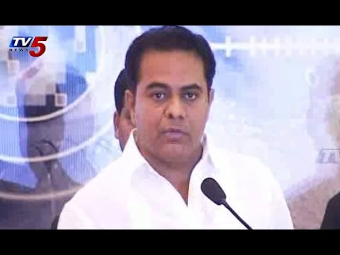 Conference on Cyber Security in Hyderabad | KTR Speech : TV5 News