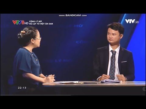 Attorney Le Cao in the Open Justice Program - VTV8 - Consequences of an injustice (Lawyer in Da Nang)