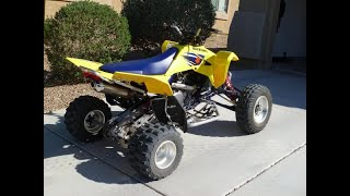 5. 2007 Suzuki Quadracer LTR450 on the burnout pad!