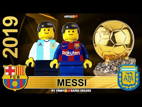 Lionel Messi wins Ballon D'Or 2019 • All 30 Top Players by France Football in Lego Football