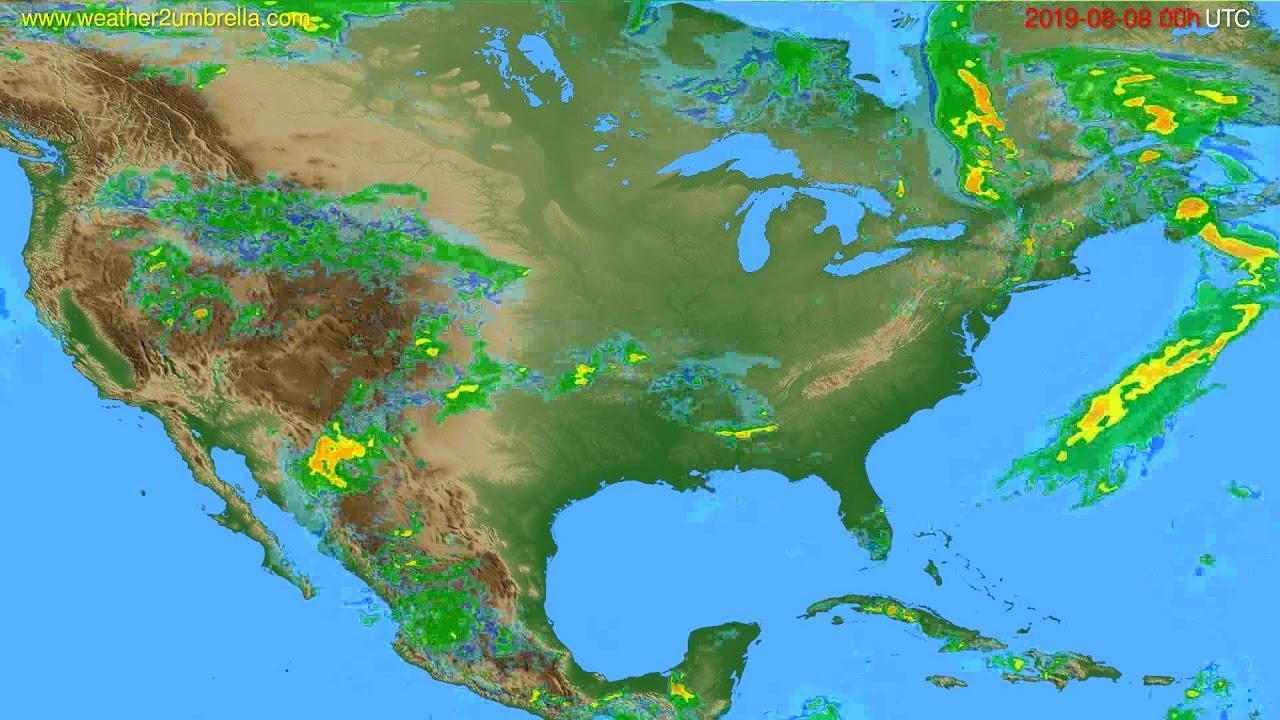 Radar forecast USA & Canada // modelrun: 12h UTC 2019-08-08