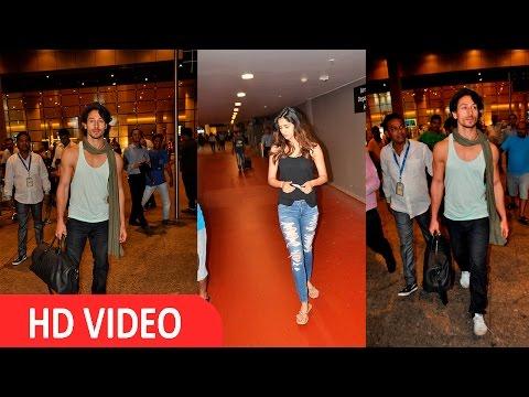 Tiger Shroff & His Girlfriend Disha Patani Spotted At Airport