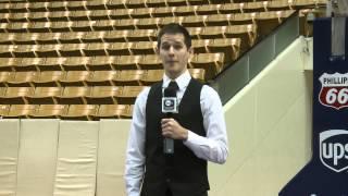 Josh Sharp Dunks on BYUtv Sports Reporter
