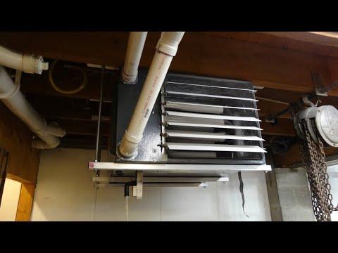 DIY One person Garage Heater Ceiling Installation