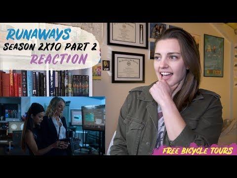 """Marvel's Runaways Season 2 Episode 10 """"Hostile Takeover"""" REACTION Part 2"""