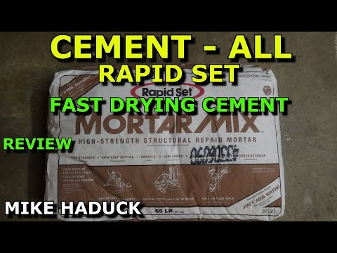 How I use Rapid set Cement all & Mortar mix  (fast drying) Mike Haduck