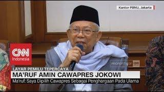 Video Ma'ruf Amin: Saya Dipilih, Sebagai Penghargaan Pada Ulama; Ma'ruf Amin Cawapres Jokowi MP3, 3GP, MP4, WEBM, AVI, FLV Oktober 2018