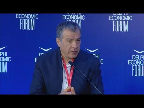 Ο Σταύρος Θεοδωράκης στο 4ο Οικονομικό Φόρουμ των Δελφών
