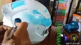 Video Airbrush Helm Hadiah Motor MP3, 3GP, MP4, WEBM, AVI, FLV September 2018