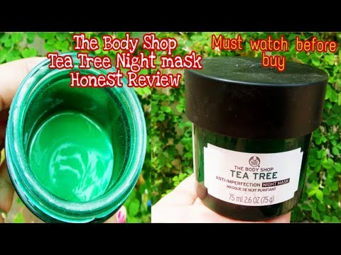 The body shop Tea tree anti imperfection night mask Honest Review #watch video before buy
