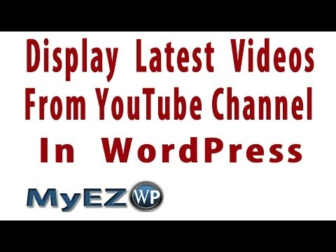 How to Display Latest Videos from YouTube Channel in WordPress | YouTube Channel Gallery Plugin