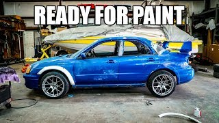 Rebuilding the Wrecked WRX - Final steps for PAINT! by Evan Shanks