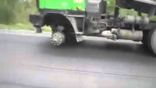 Truck Driving Without One Wheel