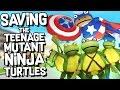 CAPTAIN AMERICA saves the TEENAGE MUTANT NINJA TURTLES! - The Amazing Frog Gameplay