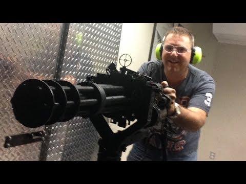 m16 - Shooting the Uzi, M16, AK47, M60, Shotgun, Grenade Launcher, MG42 & Minigun at Battlefield Vegas, Las Vegas, Nevada April 2014.