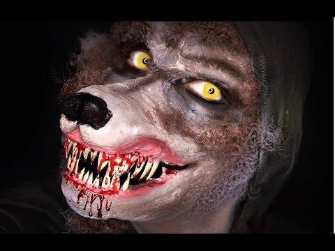 Hombre lobo como hacer y aplicar protesis | MARYANDPALETTES | ideas de maquillaje y fantasia. (видео)