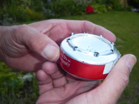 stove - HOW TO MAKE A CAMPING STOVE FROM ONLY TWO BEER CANS, Takes about 10 minutes.