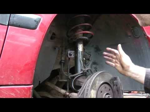 Peugeot Suspension strut removal and top mount bearing replacement