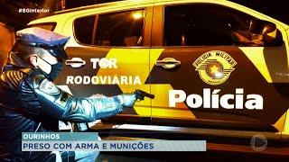 Flagrante de porte de armas e munições na Raposo Tavares em Ourinhos