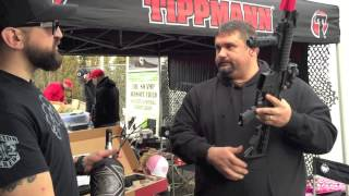 TIPPMANN M4 CARBINE Shrek from S&F Paintball and Airsoft talks with Outlaw about the new Tippmann M4. Learn all about the Co2 and HPA airsoft gun that could ...