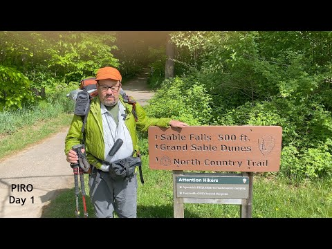 Play video Backpacking Pictured Rocks National Lakeshore - May 27, 2021