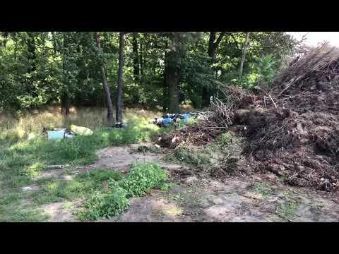 Wideo1: Dzikie wysypisko śmieci na terenie gminy Lipno