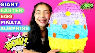 Giant Easter Surprise Egg Piñata Mickey Mouse Minions Minecraft  Shopkins Spongebob Sofia